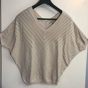 RW&Co gold/glitter flow top, size XS